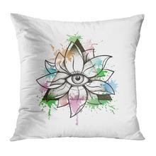 Наволочка на подушку в винтажном стиле с цветком лотоса мягкая