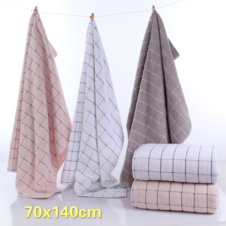 British Style Fashion Cotton Business Plaid Bathroom Bath Large Towel Bathrobe Beach Sun Bath Long Towel Steam Sauna Wrap Towels