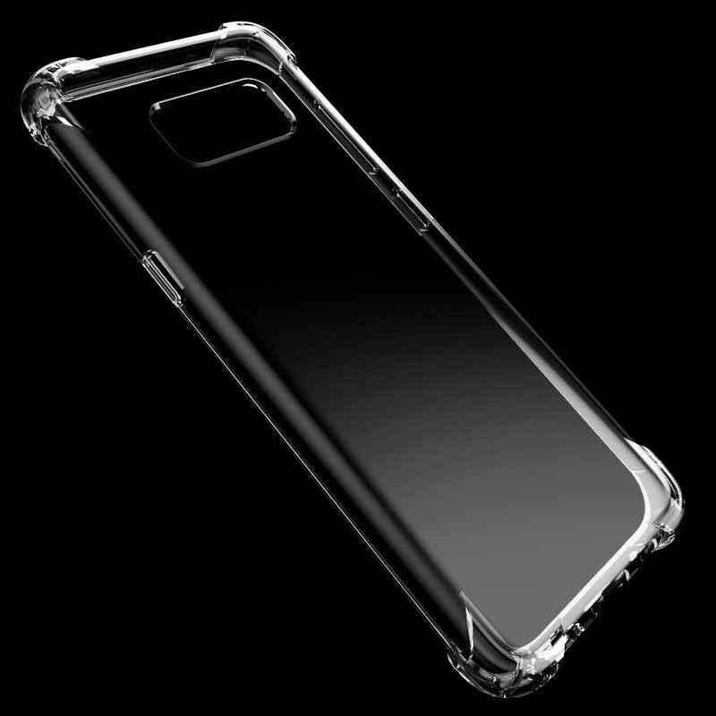 Chống Sốc Trong Suốt Silicone Mềm Dành Cho Samsung Galaxy Note 8 J3 J5 J7 A5 A5 A7 2017 Năm 2016 Thủ S9 plus S8 S7 S6 Edge Chống Va Đập