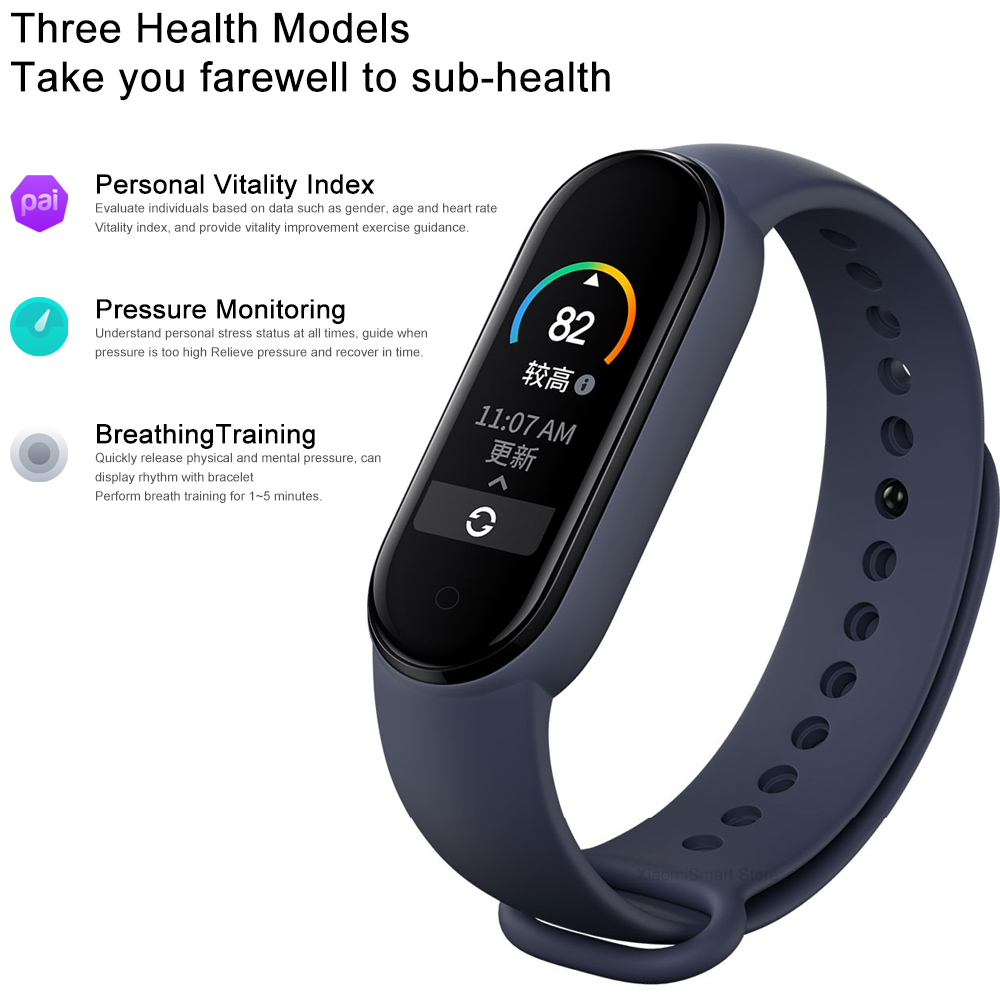 lowest price Xiaomi Mi Band 5 Global Version Smart watch 4 Color 1 1inch AMOLED Screen Heart Rate Fitness Tracker Health Monitoring Bracelet