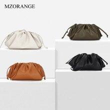 Genuine Cow Leather Cloud Bag Soft Wrinkled Dumplings Shoulder Messenger Luxury Handbags Women Designer Day clutches Hobos Bags