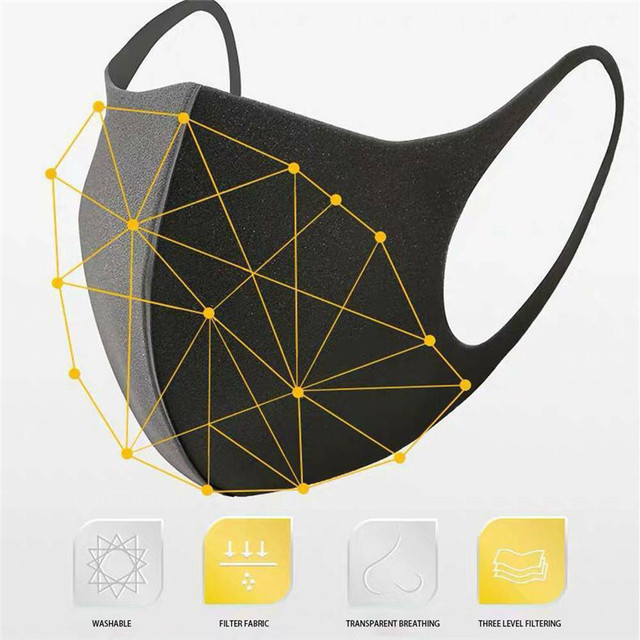 10pcs Washable Face Masks anti dust mask Activated carbon filter Windproof Mouth-muffle bacteria proof Flu Face masks Care 2