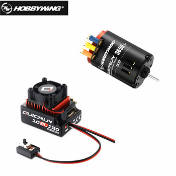New style HobbyWing QuicRun 3650 SD G2 with QuicRun 10BL120 120A Sensored+LED Program Box_General comb for RC 1/10 cars фото