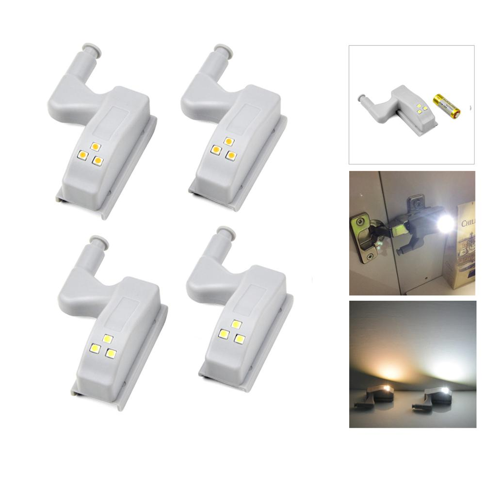 8Pcs Kitchen Cabinet Accessories Inner Hinge Light Auto On/Off Switch Closet Wardrobe Cupboard Night Lighting White/Warm White