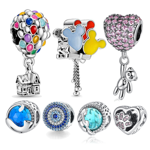 HOT SALE 925 Sterling Silver Colorful Balloon Ocean Series Beads Charms fit Original 3mm Bracelet Women Fashion DIY Jewelry