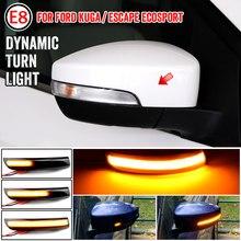 Para ford escape kuga ii ecosport 2013 - 2019 acessórios do carro dinâmico led espelho retrovisor lateral turno indicador de luz de sinal