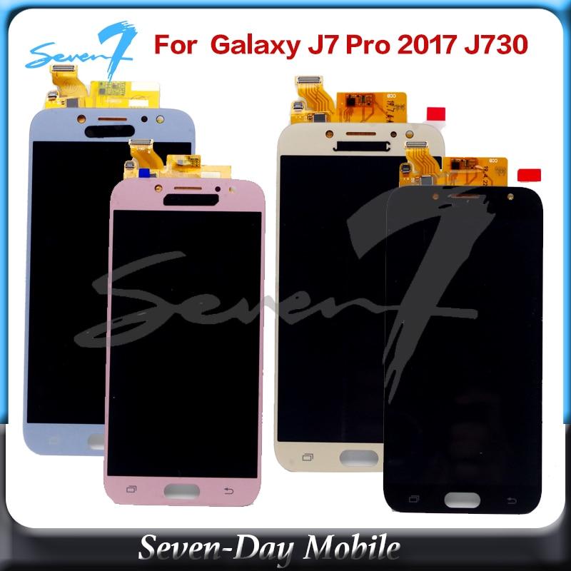 Tft lcd para samsung galaxy j7 pro 2017 j730 SM-J730F j730fm/ds j730f/ds j730gm/ds display lcd + tela de toque digitador assembléia