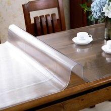 Новая ПВХ мягкая стеклянная прозрачная скатерть утолщенная водонепроницаемая