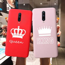 Crown Queen King OnePlus 6T 6 7 Pro Case Cute Candy One Plus Cover Soft Silicone TPU Etui Coque Fundas