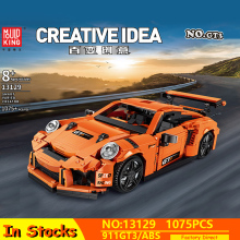 New Technic Creative Idea Series MOC GT3 RSR Speed Racing Sport Car Model Building Blocks Compatible lepining Bricks Toys Gifts technic series speed koenigseggs racing car model kit building blocks toys for children compatible lepining 23002 bricks gifts
