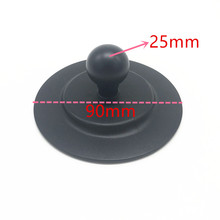 Round Plate 3M Suction Cup 1 inch Rubber Ball Mount Car Dashboard Suction Cup with Adhesive Tape Sticker for Gopro GPS Ram Mount
