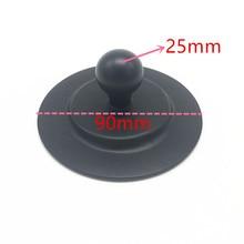 Ventosa de placa redonda de 3M para tablero de coche montaje de bola de goma de 1 pulgada, ventosa con cinta adhesiva para montaje en Gopro GPS Ram