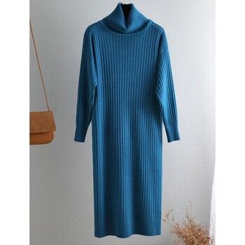 Γυναικείο Μακρύ Φόρεμα Ζιβάγκο Χειμώνας Πουλόβερ casual oversize sweater