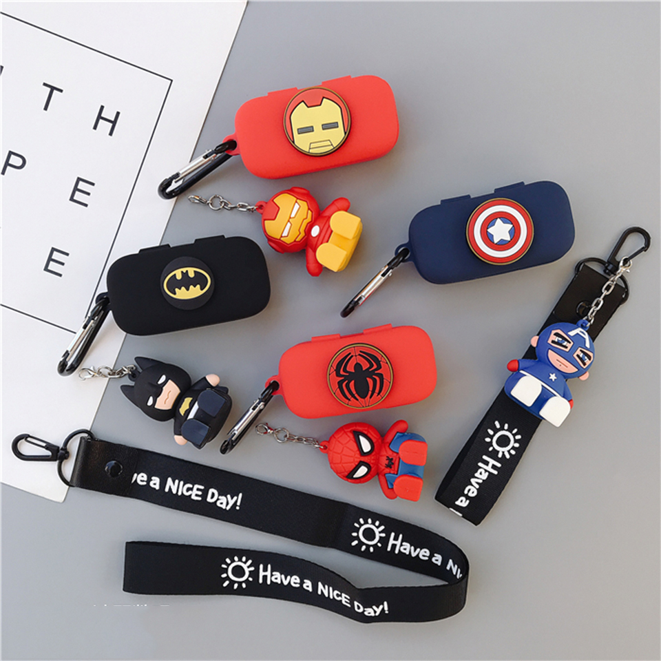 Cartoon Cute Soft Silicone Case For QCY T5 Wireless Bluetooth Earphone Portable Protect Cover With Hook Lanyard Decor For QCY T5