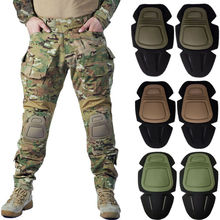 MultiCam CP gen3 Hunting Camouflage Combat Pants with Knee Pads Airsoft Tactical Trousers  jogging pants men  sweat pants