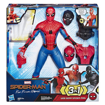 Marvel Heroes Large Set Spider-Man Drag Sound Making Doll Play House Doll Anime Figure My Hero Academia Toys for Kids PVC Model