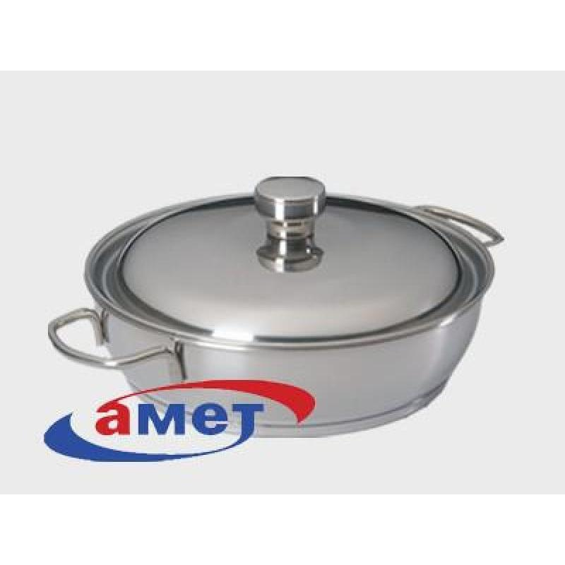 Frying Pan АМЕТ, Classic-Prima, 1,5 L, with two handles pan амет classic prima 1 l with metal cover