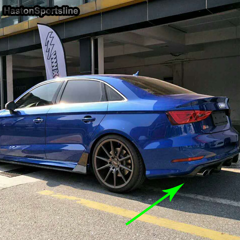 For <font><b>Audi</b></font> S3 RS3 Sline Carbon Fiber <font><b>Rear</b></font> Body Kit Bumper <font><b>Diffuser</b></font> 2014 2015 <font><b>2016</b></font> Not <font><b>A3</b></font> Standard image