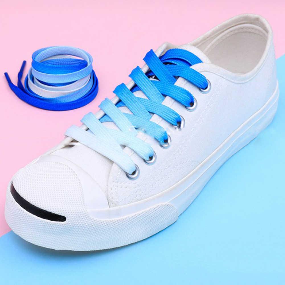 1 paar Regenbogen Farbige Schnürsenkel Sneaker Flache Elastische Schnürsenkel Wandern Stiefel Schuh Saiten Farbige Schnürsenkel für Turnschuhe Schnürsenkel