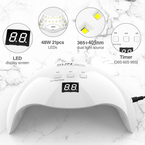 Image 2 - DIOZO SUN X9plus 48W LED Nail Lamp Dryer Manicure Curing Lamp With 30s 60s 99s Timer With Anti UV Gloves Gift