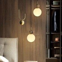 Nordic Design Glass LED Lighting Light Fixtures Living Room Bedroom Pendant Lamp Lights Kitchen Hanging Lamps Modern Home Decor