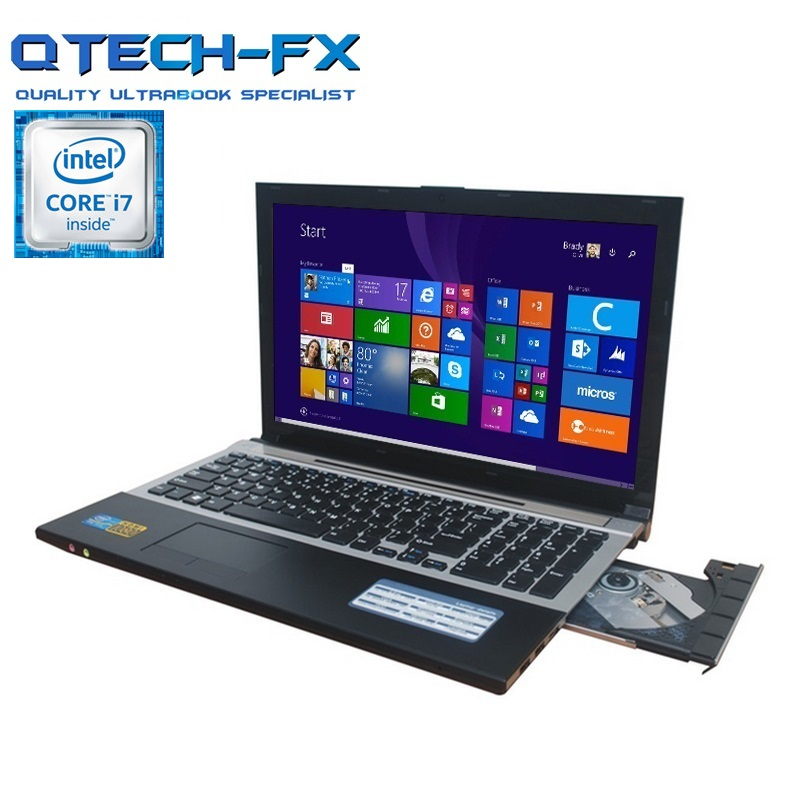 i7 Gaming Laptop 15.6 8GB RAM SSD 128/256/512GB DVD Fast CPU Metal Computer Business Student AZERTY Spanish Russian Keyboard image