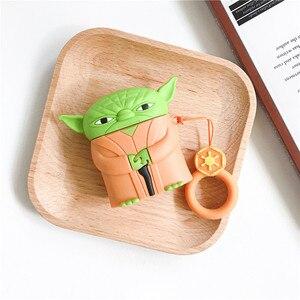 Хит продаж, мягкий силиконовый чехол 3D Master Yoda Darth Vader для Apple AirPods 1 2, чехол для air pods 2, bluetooth-гарнитура, чехол