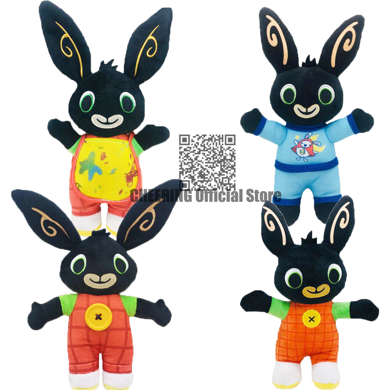 Free Shipping Bing Ribbit Stuffed Toy Pando Coco Hoppity Animation Peluche Action Toy Sula Elephant Flop Plush Doll For Kid Gift