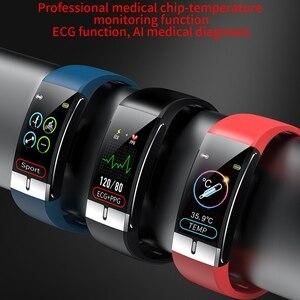 Image 3 - Monitor della temperatura corporea ECG PPG braccialetto intelligente uomo frequenza cardiaca AI Record Smart Band braccialetti Fitness Tracker impermeabili