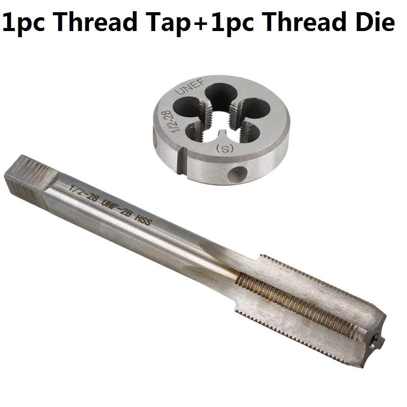 1pc HSS Machine 9//16-32 UNEF Plug Tap and 1pc 9//16-32 UNEF Die Threading Tool