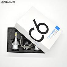 ECAHAYAKU 2Pcs All-in-one Car LED Headlight Kits bulbs C6 H1 H3 H4 H7 H11 HB3 HB4 9004 9007 H13 H27 6000K 72W/kit 7600lm