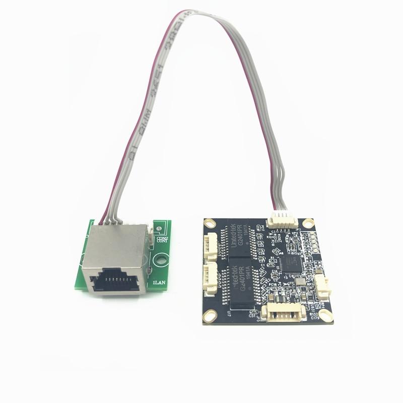 Reverse Power Supply 12V Mini PCBA Board Mini Ethernet Switch Module 10/100Mbps OEM/ODM Forward And Reverse Power Supply 12V