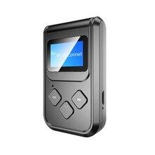 Schermo LED Bluetooth 5.0 trasmettitore Audio ricevitore 3.5mm AUX Stereo per PC TV Car 3.5mm AUX Music mittente