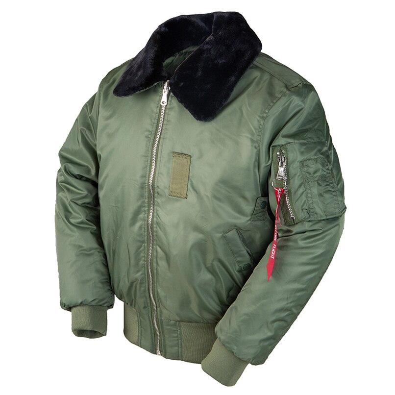 Винтажная зимняя куртка бомбер с меховым воротником, мужская уличная куртка летчика ВВС США в стиле милитари хип хоп, тактическая армейская куртка 2020 B 15|Парки|   | АлиЭкспресс