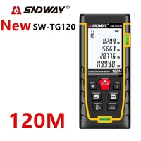 SNDWAY telémetro láser metro de distancia 120m 100m 40m electrónico ruleta buscador de rango trena de láser digital cinta de medir