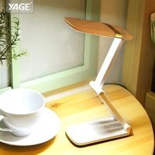 YAGE led Table Lamp Touch LED Desk Lamp Non-limit Dimming led reading desk lamp usb Foldable led light  10 pcs SMD Led desk lamp va2445 led