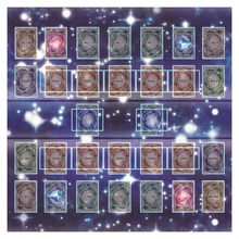 Rubber Play Mat 60x60cm Galaxy Style Competition Pad Playmat For Yu-gi-oh Card Puzzle play eva mat baby foam Rubber Play Mat #J(China)