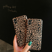 Retro Luxury Leopard Mobile Shell for iPhone X XS XR XSMax 8 7 6 6S PluSTPU Soft All Inclusive Drop Protection Back Cover