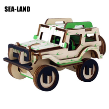 Puzzle Car Diy 3D Wooden Puzzles Game Children Educational Toys Kids Montessori Model Building Hobbies Gift Adult