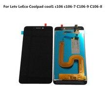 Tela lcd + digitalizador touch, display de reposição para letv leeco coolpad cool1, c106 C106 7, C106 9 exibição de tela