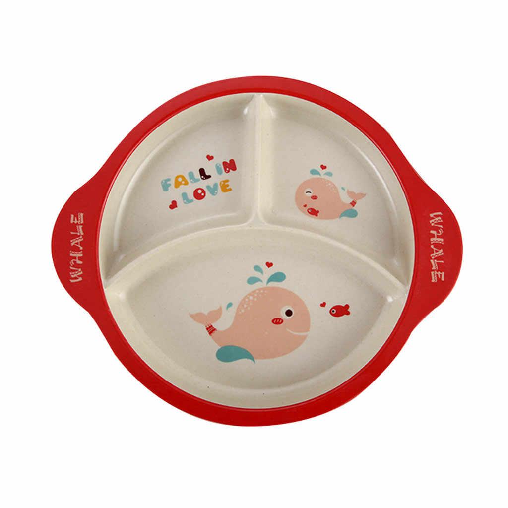 Обеденные тарелки из бамбукового волокна, Детские с рисунком, Защита окружающей среды, детские столовые приборы посуда и тарелки, наборы, pratos обеденный стол