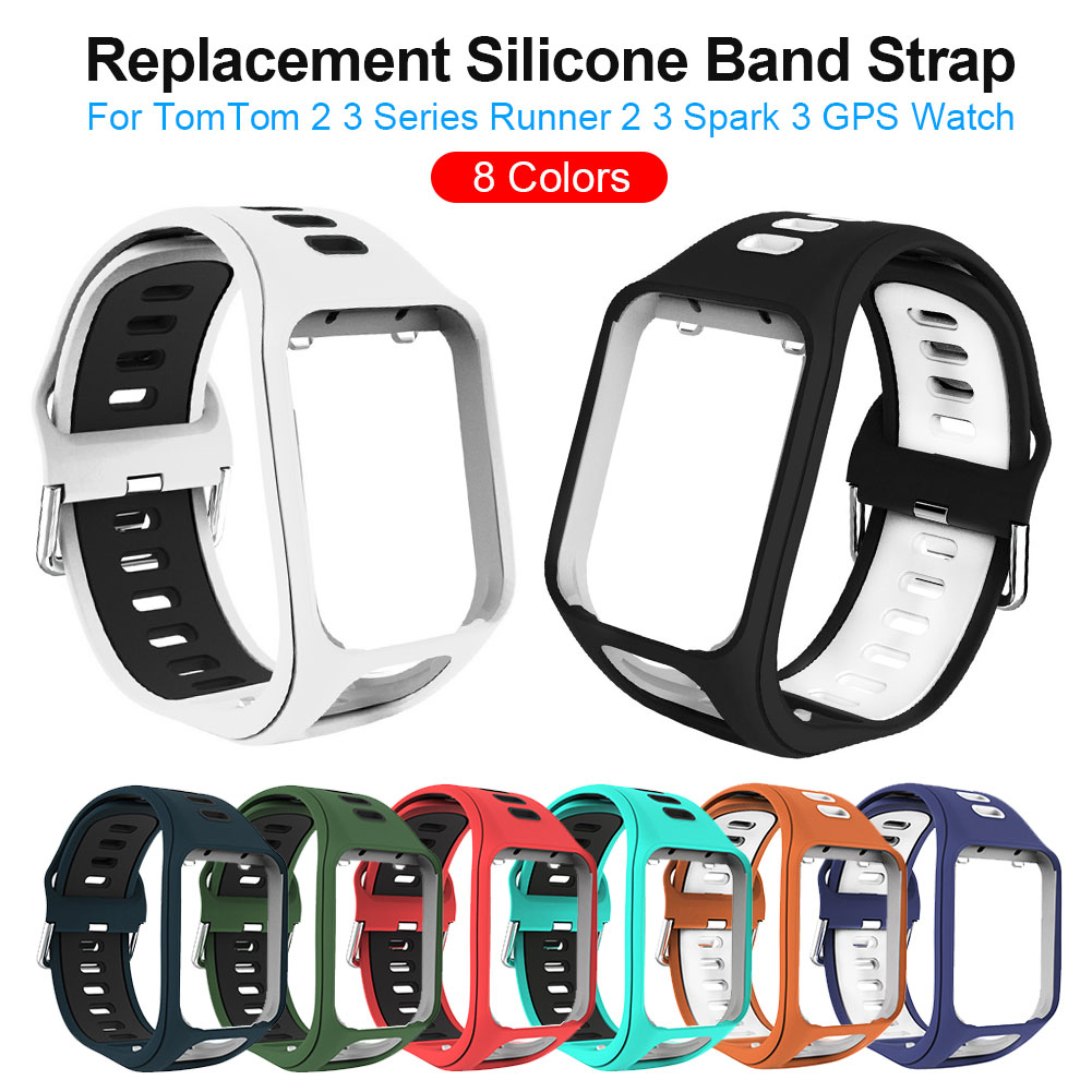 Mr 19 NEW Colour 2 In 1 Replacement Silicone Band Strap For TomTom Runner 2 3 Spark Sport Watch HS Bracelet Soft Watchband Belt