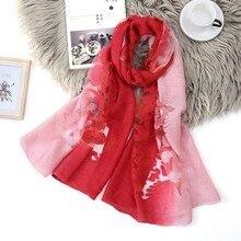 2019 Luxury Printing Women?s Silk Scarf Wrap Autumn Winter Fashionable Elegant Two-tone Scarf Shawls Bufandas Accesorios mujer