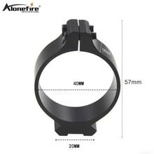 AloneFire 40 мм тактический ствол кольцо 20 мм Прицельный телескоп зажим Крепление охотничий пистолет фонарь Лазерный Прицел держатель-1 шт