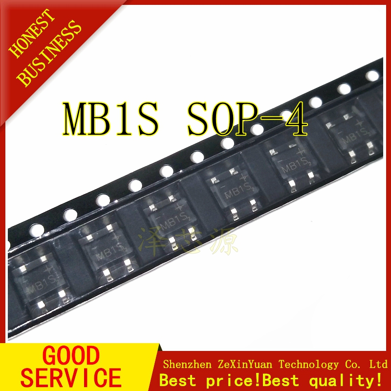 50PCS MB1S SMD NEW Rectifier Bridge