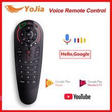 G30 Voice Air Mouse IR Learning G10 дистанционное управление с гироскопом 2,4G Беспроводная мини клавиатура для Android 10 TV Box Android 9,0