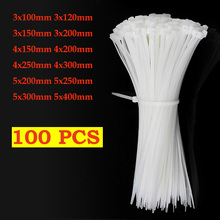 Strap Fastening-Ring Cable-Tie Wraps Plastic Self-Locking Nylon 100pcs 3X200 5x300 3--100