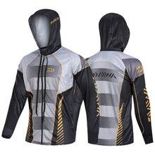 Новинка, Мужская одежда для рыбалки Daiwa, ветрозащитная куртка на молнии, антимоскитное пальто, одежда для рыбалки, бега, верховой езды, рыбалки