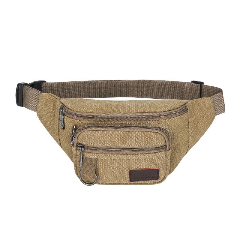 Casual Sports Canvas Waist Pack 2019 New Style Outdoor Running Purse Men And Women Casual Large Capacity Mobile Phone Waist Bag