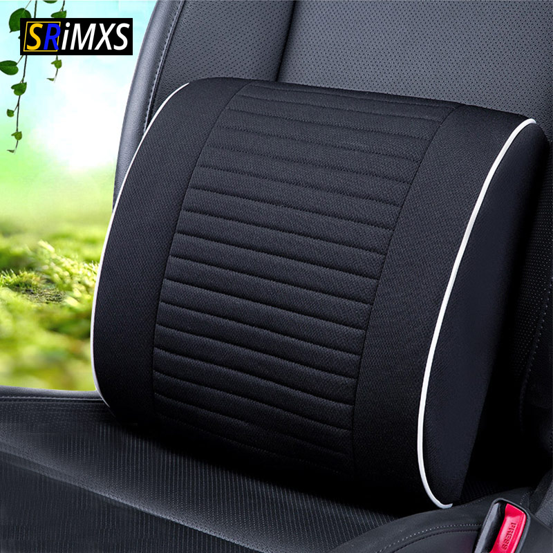 Universal Breathable Mesh Cloth Car Seat Lumbar Cushion Pillows Soft Cotton Back Support for Car Seat Lumbar Support
